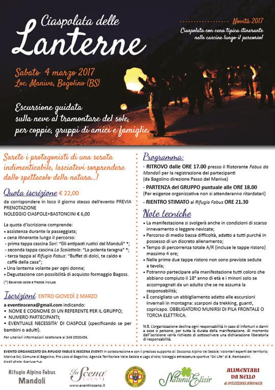 Maniva: Ciaspolata delle Lanterne 2017-2