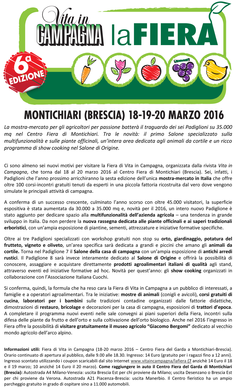 Montichiari: Fiera di Vita in Campagna 2016