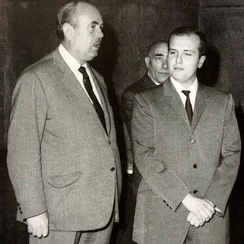 L'ex sindaco Bruno Boni con Silvano Antonini