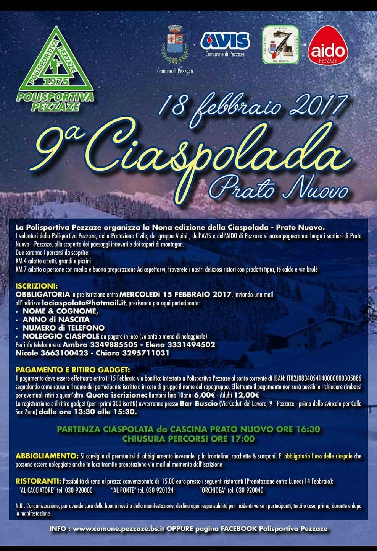 Pezzaze: Ciaspolada Prato Nuovo 2017-2