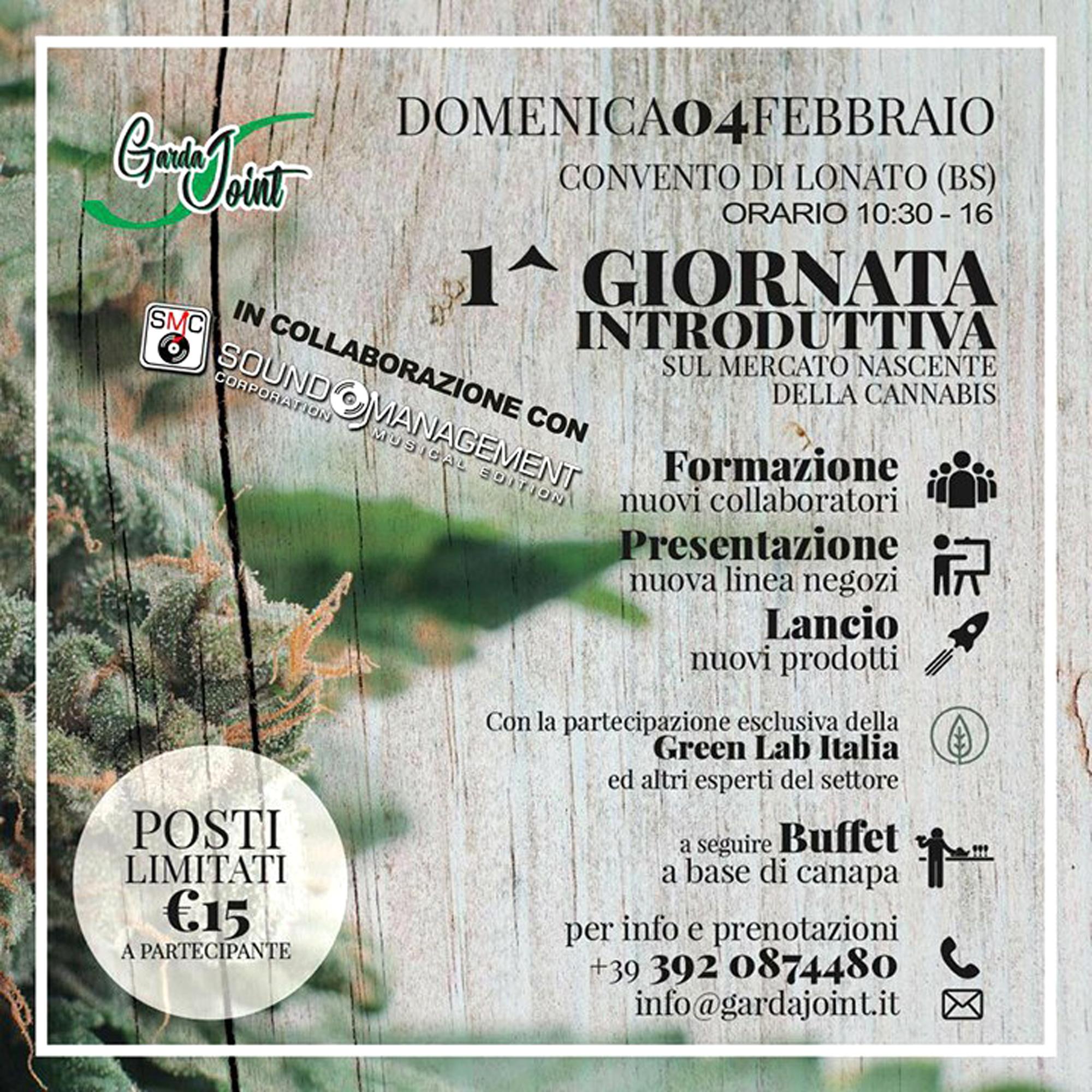 Convento di Lonato: introduzione al mercato della Cannabis con Garda Joint-2
