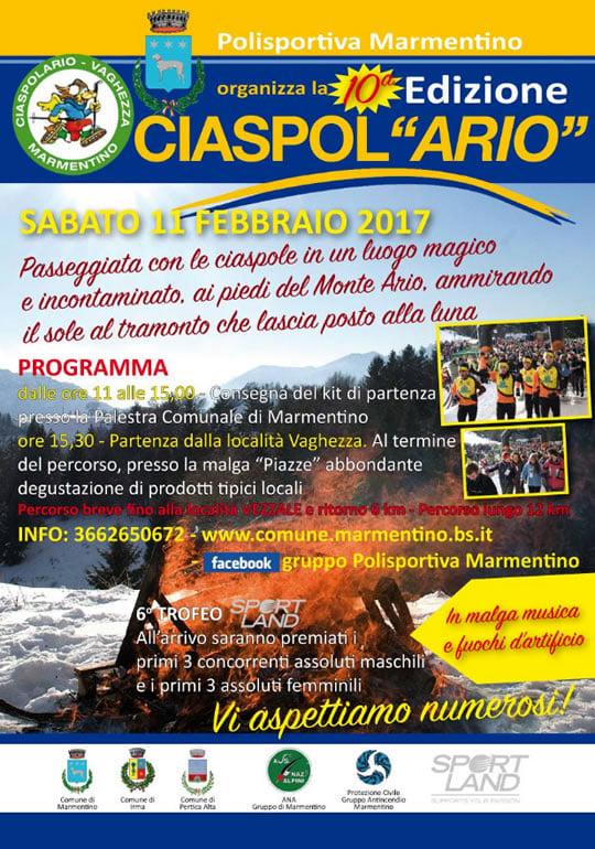 Marmentino: Ciaspolario 2017-2