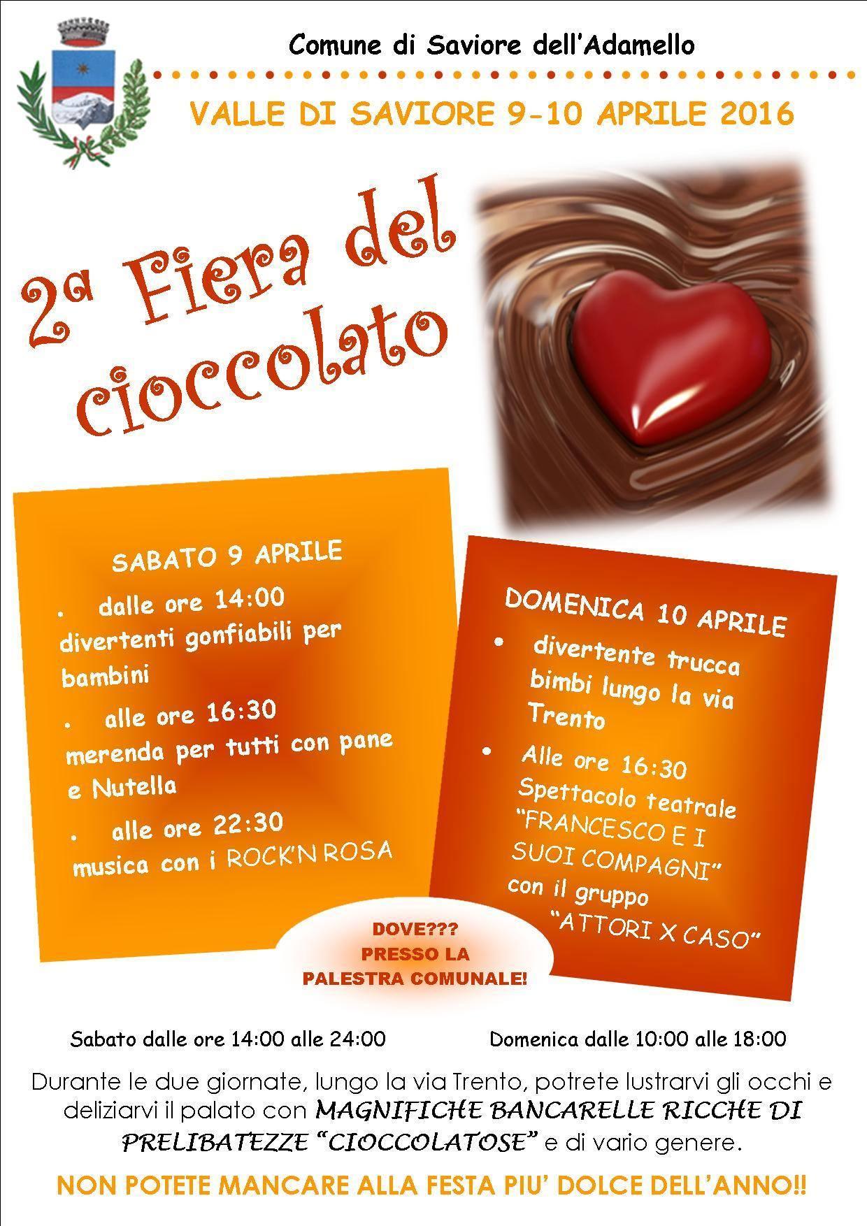 Saviore dell'Adamello: Festa del Cioccolato 2016-2