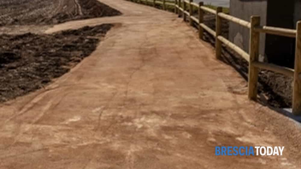 nuova pista ciclo pedonale a borgosatollo-2