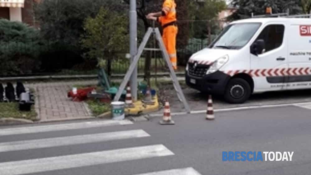 terminati i lavori di riqualificazione del semaforo di via santissima-facchi-g. di vittorio a borgosatollo-2