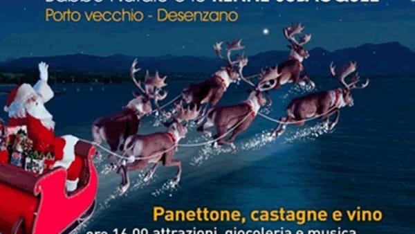 Desenzano: Babbo Natale e le Renne Subacquee