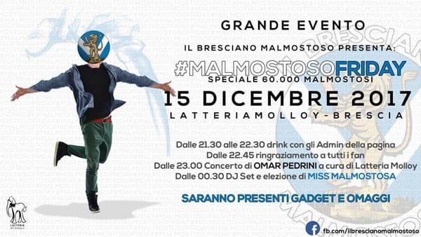 Brescia: Malmostoso Friday con Omar Pedrini alla Latteria Molloy