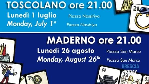 Tocscolano Maderno: tombola figurata tradizionale