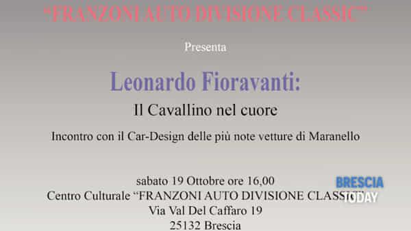 """Brescia: """"Con il Cavallino nel cuore"""", incontro con Leonardo Fioravanti"""