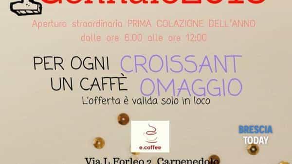 """Carpenedolo, Bar e.Coffee: """"Se prendi un croissant, ti regaliamo un caffè!"""""""