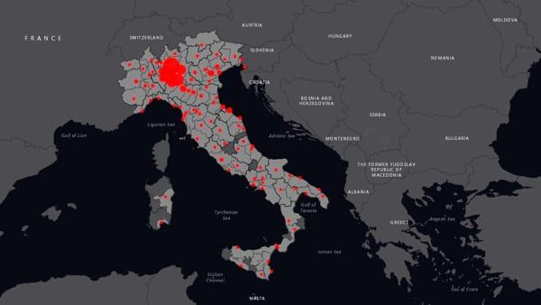 Cartina Italia Interattiva Html.Coronavirus In Italia La Mappa Aggiornata In Tempo Reale