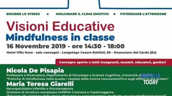 "Desenzano: convegno ""Visioni educative: mindfulness in classe"""
