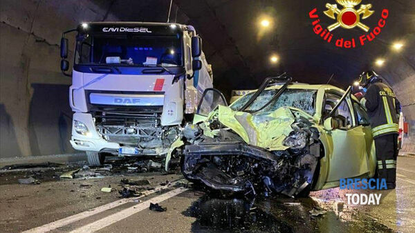 La drammatica scena dell'incidente © Bresciatoday.it