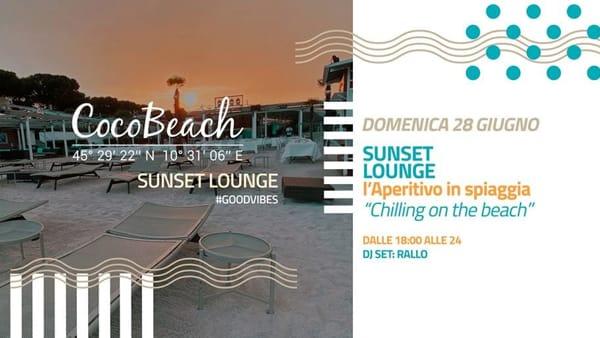 """Lonato: """"Sunset Lounge"""", l'aperitivo in spiaggia al Coco Beach"""