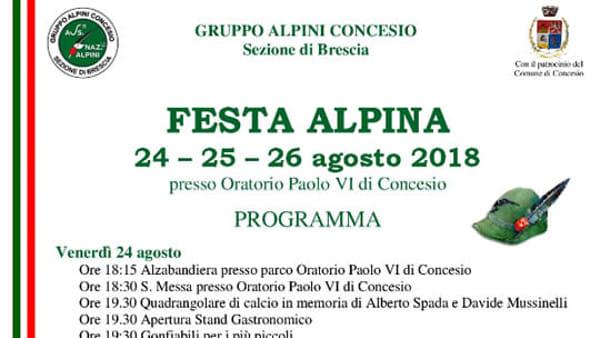 Concesio: Festa Alpina
