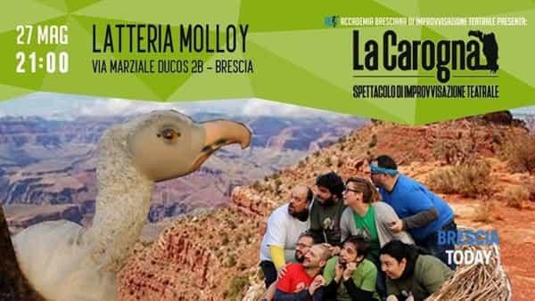 Brescia: spettacolo comico di improvvisazione teatrale 'La Carogna'