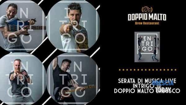 Erbusco: concerto Intrigo alla birreria Doppio Malto