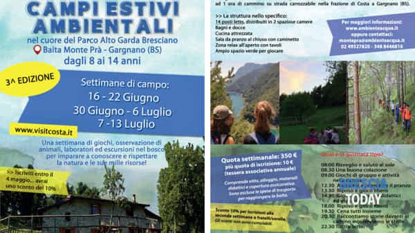 Gargnano: campi estivi in baita Monte Pra'