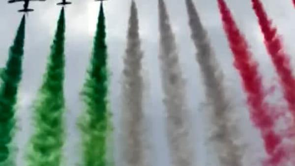 Lo spettacolo delle Frecce Tricolori.. viste dalla barca