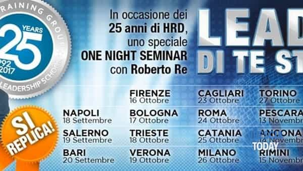 "Brescia: ""Leader di te stesso tour"", Roberto Re in tour"