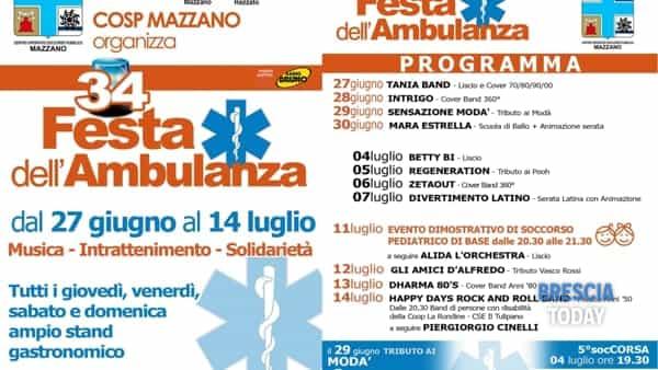 Mazzano: Festa dell'Ambulanza - Cosp Mazzano