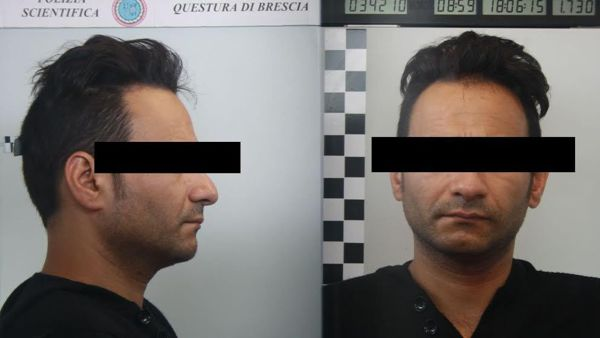 L'uomo arrestato - Copyright © Bresciatoday.it