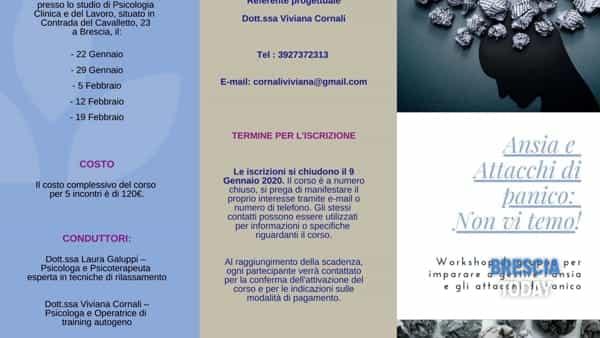 Brescia: Workshop di gruppo per imparare a gestire l'ansia e gli attacchi di panico