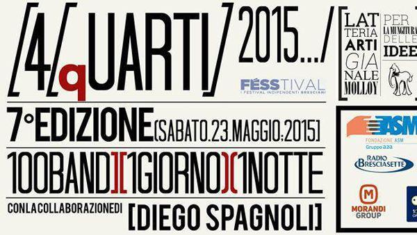 Dieci ore di musica e 110 artisti: a Borgosatollo 4/qUARTI 2015 edition!