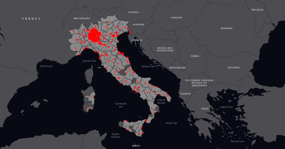 Cartina Geografica Italia Con Tutte Le Province.Coronavirus In Italia La Mappa Aggiornata In Tempo Reale